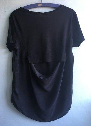 Kup mój przedmiot na #vintedpl http://www.vinted.pl/damska-odziez/koszulki-z-krotkim-rekawem-t-shirty/17496073-t-shirt-oversize-zara-jedwab-wyciecia-cut-back-premium-minimal