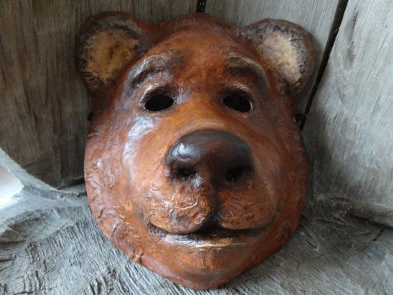 Animal head mask Bear mask Animal head mask by MiesmesaBerni