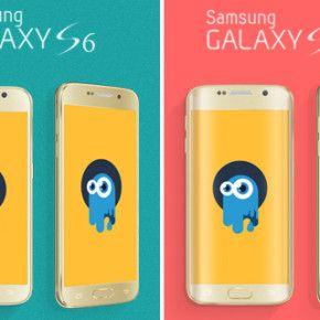 mock-ups samsung galaxy S6 and S6 Edge