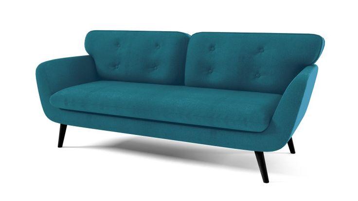 Sofá 3 plazas tapizado de tela estilo escandinavo Plavy
