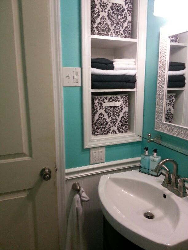 my tiffany blue bathroom home pinterest