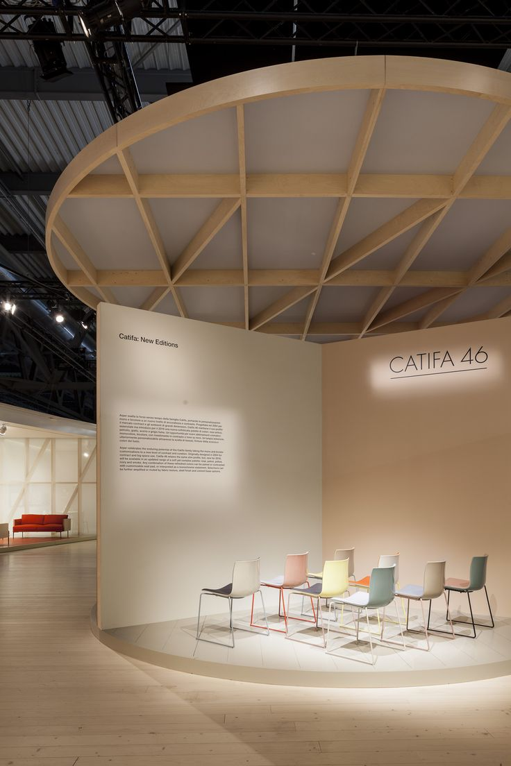Catifa 46 in new colors at Arper's booth Milano 2016. creative direction lievore altherr molina.