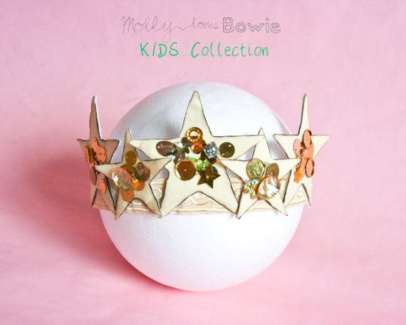 Baby & Toddler's Star Crown Yellow and Gold by MollylovesBowieKIDS