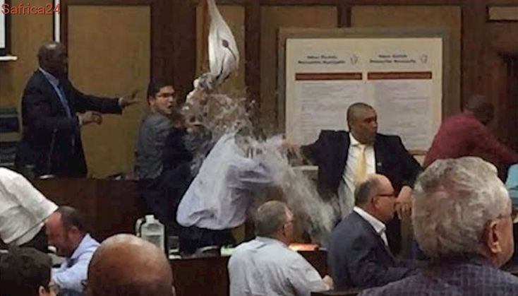 Accused in council 'water jug' assault case takes the stand