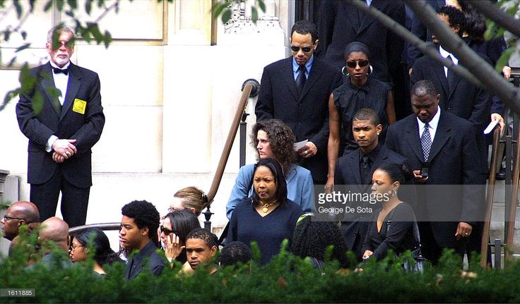 Usher Raymond, other friends and family of the late R&B singer Aaliyah leave St. Ignatius Loyola Church after the funeral service August 31, 2001 in New York City. The 22-year-old singer died August 25 in a plane crash in the Bahamas.