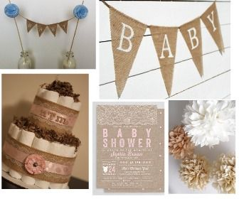 Burlap is one of my favorite baby shower themes. It is perfect for a rustic baby shower but with a twist and works perfectly when you are looking for a gen