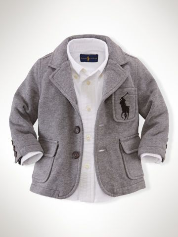 Cotton-Blend Fleece Blazer - Infant Boys Sweatshirts - RalphLauren.com