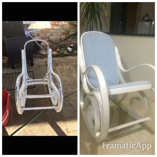 Old rocking chair I finally got around to restoring .