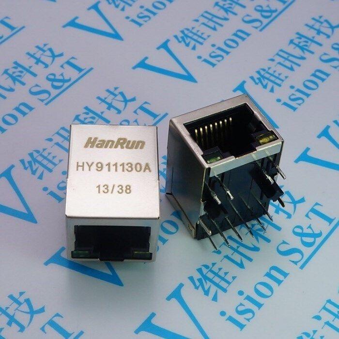 HWEXPRESS Network socket HR 911130 A ADSL HanRun Hy 911130 A RJ Network Seat Bring Transformer Gigabit #Affiliate