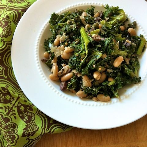 Food of my people:  Sicilian Kale with Tuna, Capers & Cannellini Beans...teaspooncomm.com