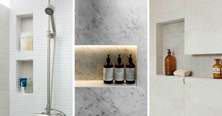 Étagère de douche intégrée pour un confort optimal
