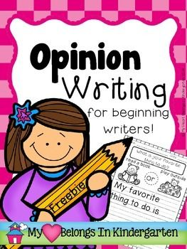 Opinion Writing Graphic Organizer FREEBIE