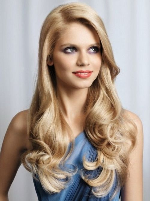 Best Long Hairstyles For Round Faces Images On Pinterest Long - Evening hairstyle for round face