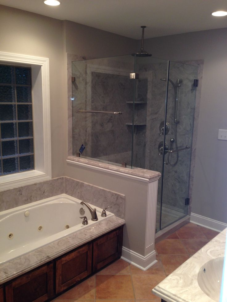 Add Open Concept Idea For A Bathroom Remodel Or New Construction Using Cultured  Marble For Showers