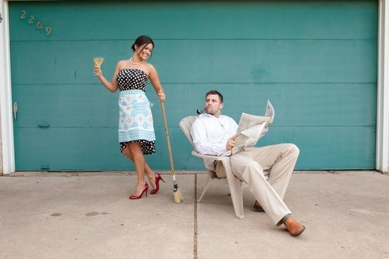 Funny engagement photo idea. Photo by Jeannine. #MinneapolisWeddingPhotographer
