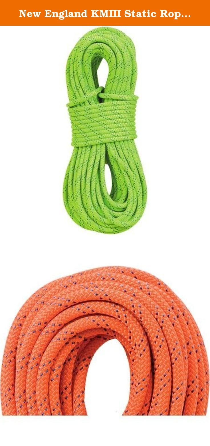 New England KMIII Static Rope 600 ft./Green. The New England KMIII Static Rope is an exceptional static rope for rappelling, wall development, caving, rescue, fixed-rope applications, hauling and life-safety application. This is one of the most durable static ropes available, with the handling and knotability you expect from New England Ropes.The unique polyester sheath differentiates KM-III from other static ropes and is balanced with a nylon core to limit rotation, bouncing and stretch.