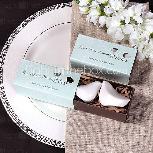 keramische vogel zout en peper shakerss bruiloft gunst (set van 2) - EUR €1.89