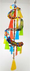 Wind chimes - How to craft project - made from aluminum soda can, beads and clear plastic - good kid project idea