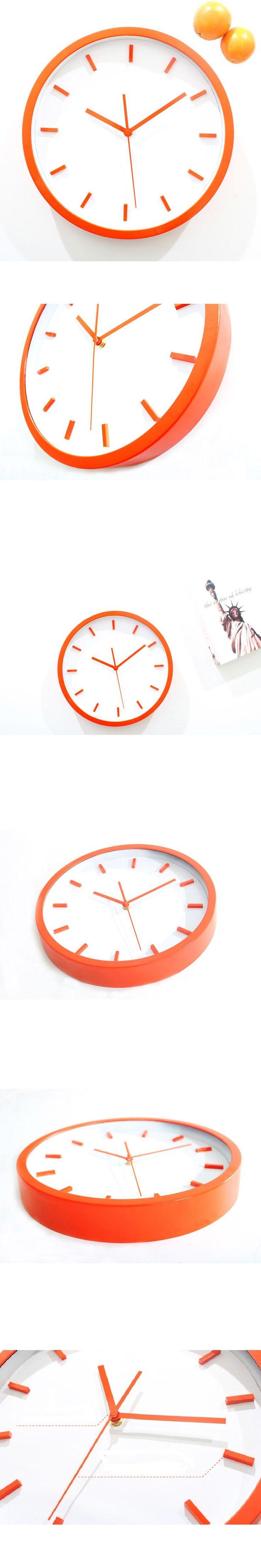 Best 25 orange wall clocks ideas on pinterest retro kitchen saat clock 3d orange wall clock reloj relogio de parede reloj de pared wall horloge murale amipublicfo Image collections