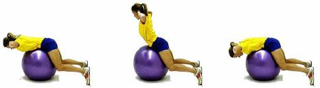 Stability Ball Exercises to strengthen core muscles