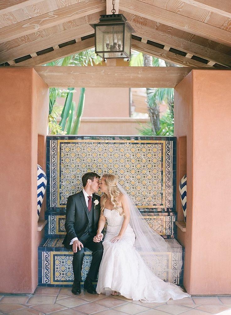 Monique Lhuillier dress | Rancho Valencia Wedding | Robert & Kathleen Photographers