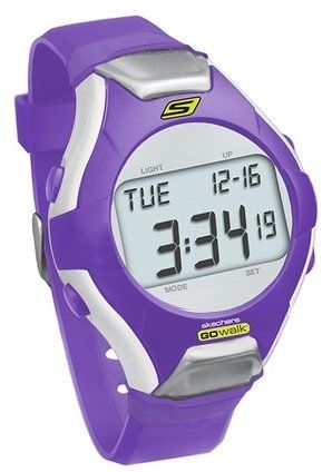 Skechers GoWalk Heart Rate Monitor Watch (Purple). Strapless heart rate design with no chest strap required-just put two fingers on the metal nodes at the ends of the watch face to get a reading. Doubles as heart rate monitor and watch. Fast and easy ECG accurate heart rate, Large backlit LCD screen. LCD displays heart rate and other data. Functions as a stopwatch, clock, calendar, alarm and countdown timer, Water Resistant.
