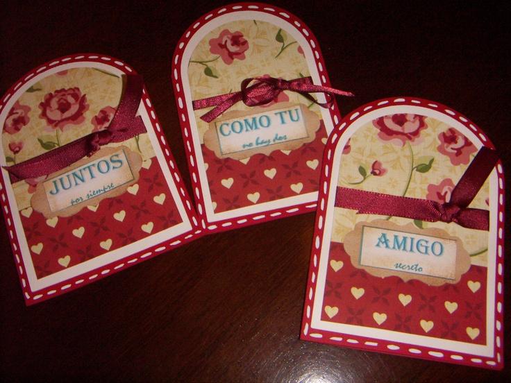 tarjetas amor y amistad