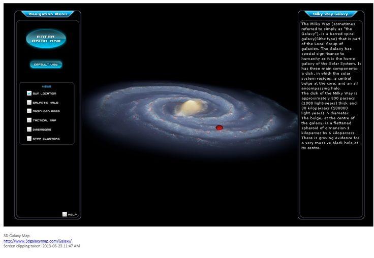3D Galaxy tool.