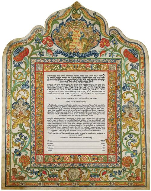 Ketubah Trieste (Italy), 1774 by The Jewish Museum