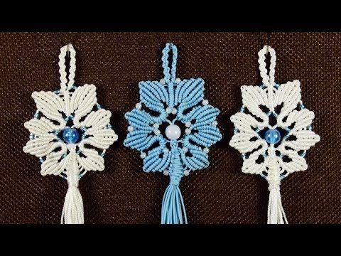Alternate Snowflake Tutorial by Macrame School. Please watch more Christmas and New Year Interior Design Tutorials here: http://goo.gl/Xn7Etk ★ Macrame Brace...