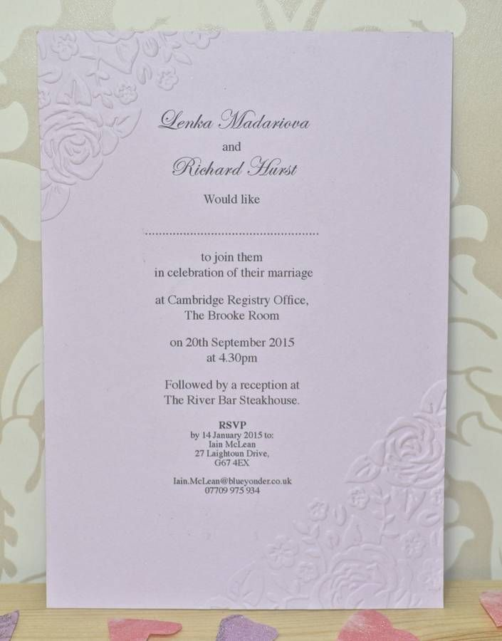 how to emboss wedding invitations diy%0A Vintage Rose Embossed Wedding Stationery