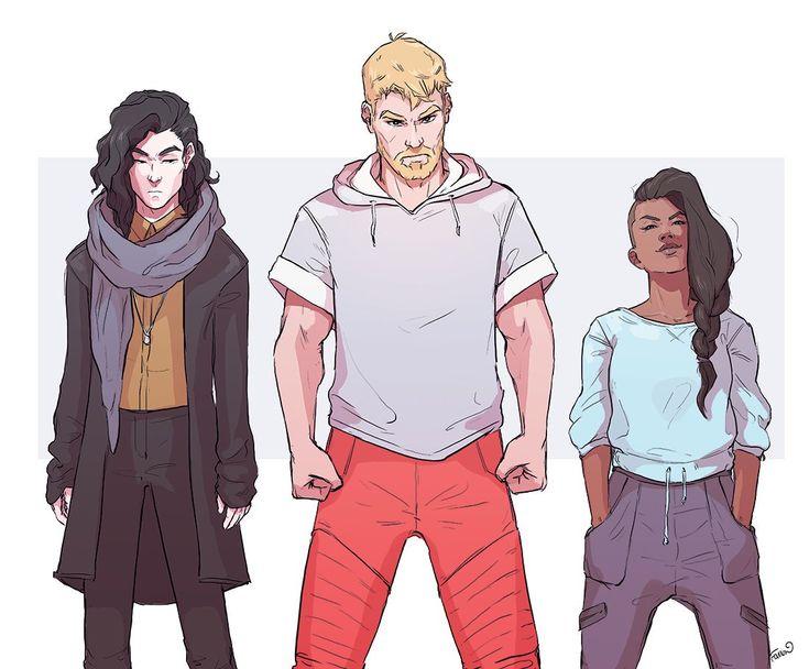 Loki, Thor and (America or Valkyrie)?