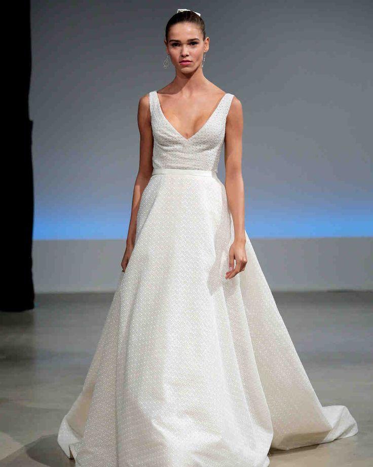 Isabelle Armstrong Fall 2017 Wedding Dress Collection   Martha Stewart Weddings – Sleeveless V-neck ball gown wedding dress