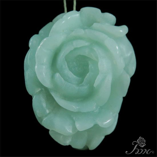 Hand-carved  Flower  Multi-color Amazonite Pendant Bead #PDN #Pendant