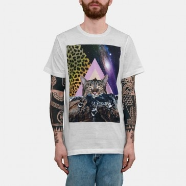 Taboo Nonsense Cat Tshirt White