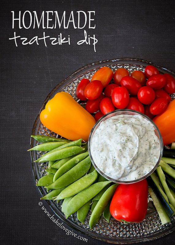 homemade tzatziki dip | bakelovegive.com... I can make this for lunch to take for work