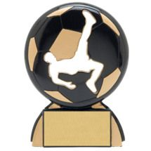 "Soccer Trophies - 4 1/2"" Male Soccer Shadow Resin Award"
