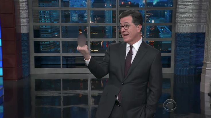 """Colbert said during """"The Late Show"""" that no one has """"summed up the mood of the country"""" better than the woman."""