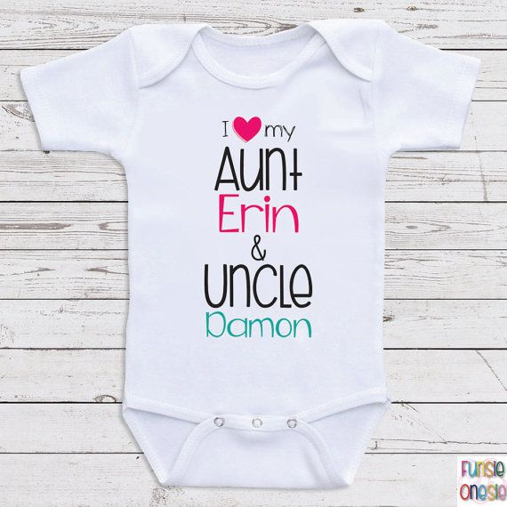 80 best baby auntie clothes images on pinterest auntie personalized baby one piece i love my aunt and uncle aunt uncle baby clothes for boys or girls baby shower gifts baby clothes d7 negle Choice Image
