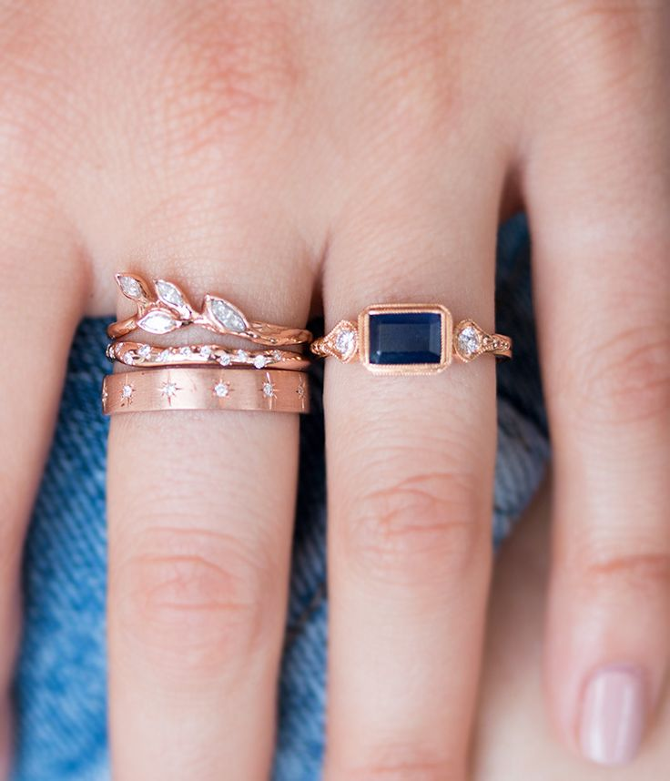 Anessa Sapphire ring - Audry Rose