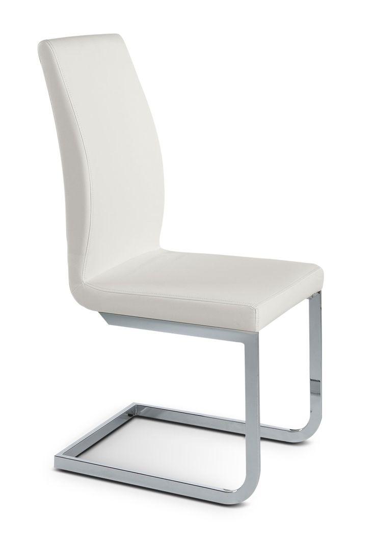 Altair Chaise Sans Bras Blanc Leon Meubles Leon Side Chairs Chair Floor Chair