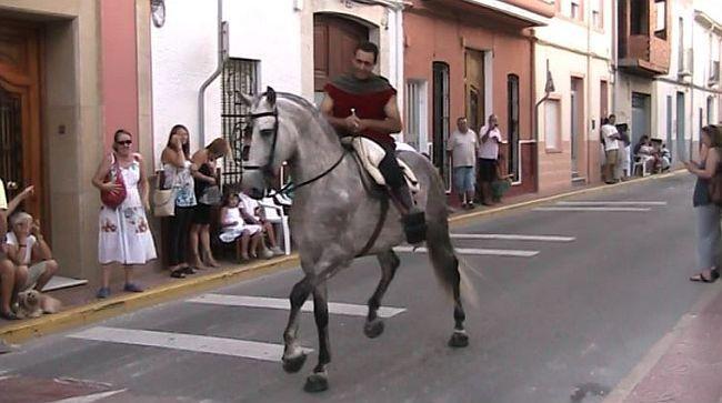 Horseman at moorsand christians Benitachell / El Poble Nou de Benitatxell
