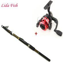 LidaFish 2.1-3.6m telescopic fishing rod and 3BB fishing reel portable travel fishing rod combination hot  $US $15.32 & FREE Shipping //   http://fishinglobby.com/lidafish-2-1-3-6m-telescopic-fishing-rod-and-3bb-fishing-reel-portable-travel-fishing-rod-combination-hot/    #fishinf