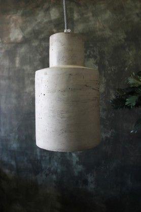 Industrial Concrete Ceiling Pendant Light from Rockett St George #ceilinglight #inspiredlighting #gorgeouslighting #concretelights pendantlights #lovethis #AW16