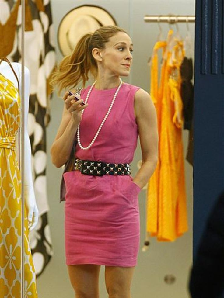 Sex and the city movie carrie pink dress