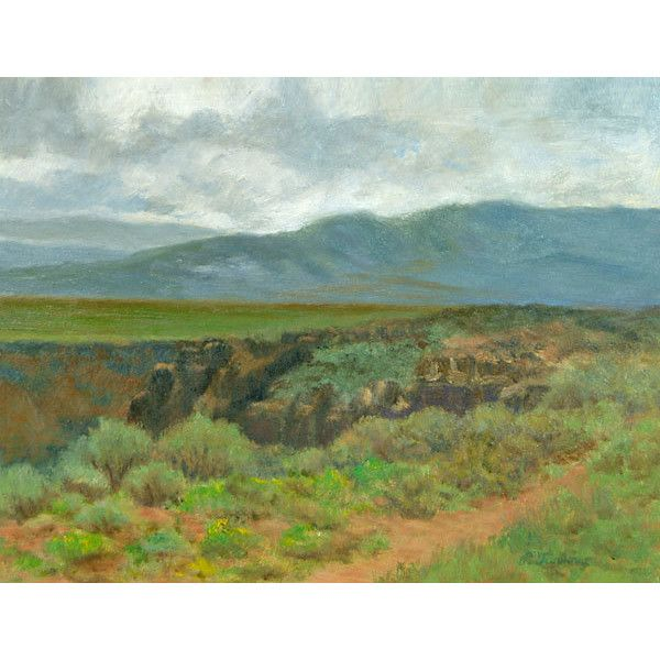 New Mexico Art Print, Southwest Landscape, Rio Grande Gorge Landscape... ($24) ❤ liked on Polyvore featuring home, home decor, wall art, southwestern wall art, outdoor paintings, outdoor home decor, landscape wall art and landscape oil painting