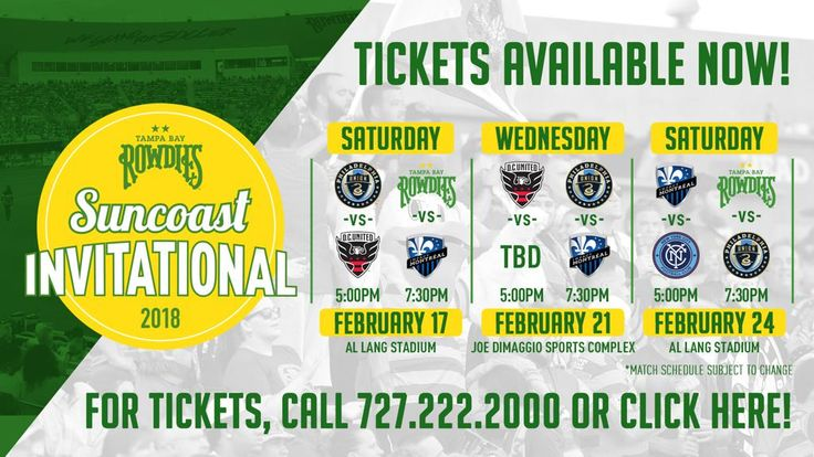 TAMPA BAY ROWDIES WELCOME MAJOR LEAGUE SOCCER CLUBS TO ANNUAL INVITATIONAL