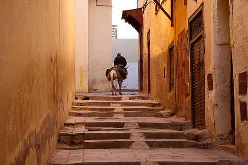 Car-free street in ancient Fes