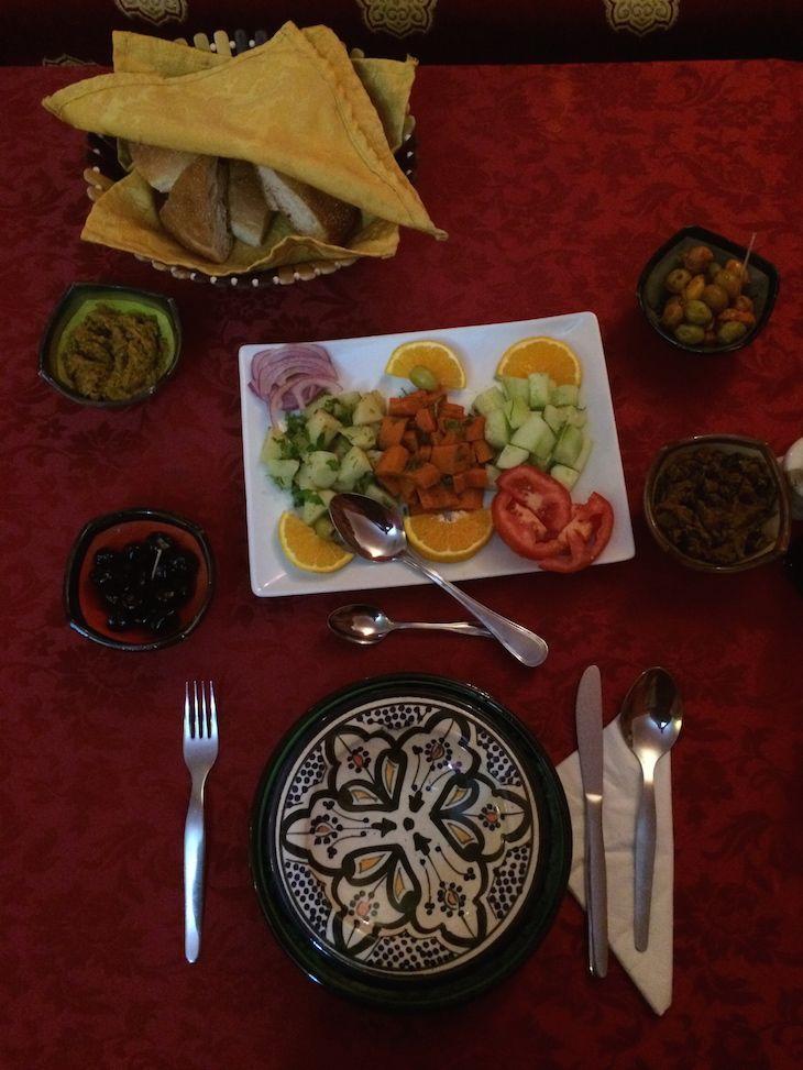 Salada Marroquina no Dar Rita © Viaje Comigo