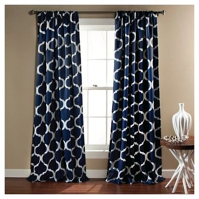 in teal or gray for guestrooms?  // Geo Blackout Curtain Panels Set of 2